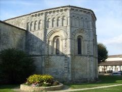 Eglise Notre-Dame de l'Assomption -  Chevet de l'église romane de Rioux