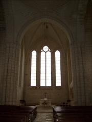 Ancienne abbaye Notre-Dame -  Intérieur de l'église de Sablonceaux
