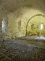 Vestiges de l'ancienne abbaye de Fontdouce - Français:   Chapelle basse de l\'abbaye de Fontdouce à Saint-Bris-des-Bois (17).