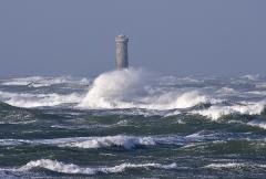 Vieux Phare des Baleines et phare des Baleineaux -  Les Phare des Baleineaux dans la tempête - Île de Ré - France