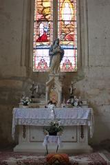 Eglise Saint-Jean-Baptiste - Église Saint-Jean-Baptiste, autel Notre-Dame, Fr-17-Saint-Jean-d'Angle.