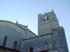 Eglise Saint-Savinien -  Clocher et abside de l'église de Saint-Savinien (17).