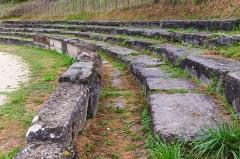 Restes de l'amphithéâtre gallo-romain - English: Seats in the roman amphitheatre of Saintes, Charente-Maritime, France
