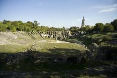 Restes de l'amphithéâtre gallo-romain - Français:   Amphithéâtre romain de Saintes, Charente-Maritime, France.
