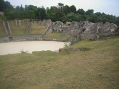 Restes de l'amphithéâtre gallo-romain - Français:   Amphithéâtre
