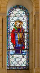 Eglise Saint-Eutrope - English: Bishop Blessed Pierre-Louis de la Rochefoucauld. Stained glass window by Dagrand, Saint-Eutropius upper Basilica, Saintes, Charente-Maritime, France