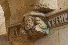 Eglise Saint-Eutrope - English: A romanesque capital in the crypt of the basilica of Saint-Eutropius, Saintes, Charente-Maritime, France
