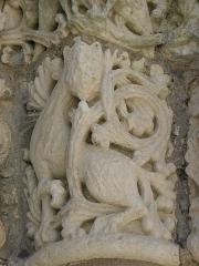 Eglise Sainte-Marie-aux-Dames - Portail occidental de l'église abbatiale Sainte-Marie-aux-Dames de Saintes (17).