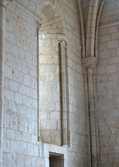 Eglise Saint-Pallais - English: Saintes ( Charente-Maritime ). Saint-Pallais church - Apse window.