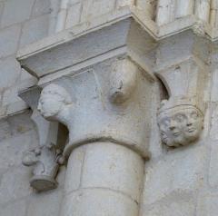 Eglise Saint-Pallais - English:   Saintes ( Charente-Maritime ). Saint-Pallais church - Romanesque capital.