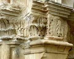 Eglise Saint-Pallais - English: Saintes ( Charente-Maritime ). Saint-Pallais church: Romanesque portal ( detail )