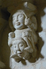 Eglise Saint-Pallais - English: Saintes ( Charente-Maritime ). Saint-Pallais church - Romanesque corbel.