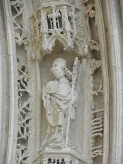 Eglise Saint-Pierre - Français:   Voussure du portail occidental de la cathédrale Saint-Pierre de Saintes (17).