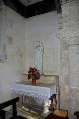 Eglise Saint-Martin - Français:   Chapelle latérale de l\'église Saint-Martin. Brux, Vienne, France.