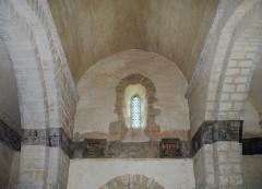 Eglise Saint-Martin - Français:   Litre funéraire (XVIIIe siècle), détail, église Saint-Martin. Brux, Vienne, France
