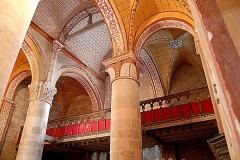Eglise Saint-Gervais Saint-Protais - Deutsch: Civaux, Kirche, Langhaus, Tribüne im 1. Joch