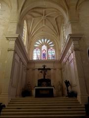 Abbaye - Abbatiale Saint-Junien de Nouaillé-Maupertuis (86). Intérieur. Chœur.