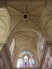 Abbaye - Abbatiale saint-Junien de Nouaillé-Maupertuis (86). Intérieur. Voûtes du chœur.