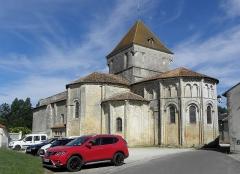 Eglise Saint-Maurice - Église Saint-Maurice de Saint-Maurice-la-Clouère (86). Extérieur. Vue méridionale.