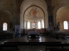 Eglise Saint-Maurice - Intérieur de l'église Saint-Maurice de Saint-Maurice-la-Clouère (86). Choeur et transepts.