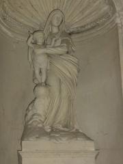 Eglise Saint-Sylvain - English: Église Saint-Romain de Saint-Sauvant, statue vierge et enfant
