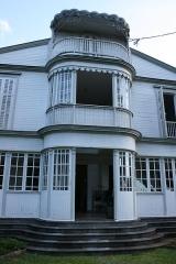 Maison Martin ou Martin Valliamé, actuellement office du tourisme de Saint-André - Français:   Détail de la façade de la maison Martin-Valliamée à Saint-André de La Réunion.