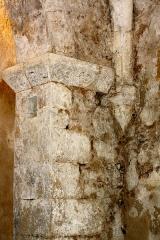 Eglise de Blanzey - Français:   Chapelle de Blanzey: pilier de la crypte