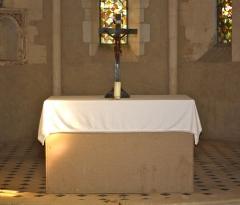Eglise de Blanzey - Français:   Chapelle de Blanzey: autel
