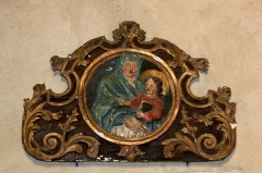 Eglise de Blanzey - Français:   Chapelle de Blanzey: médaillon