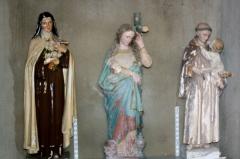 Eglise de Blanzey - Français:   Chapelle de Blanzey: statues