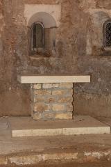 Eglise de Blanzey - Français:   Chapelle de Blanzey: autel de la crypte