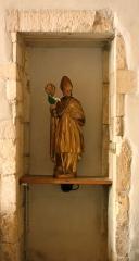 Eglise de Blanzey - Français:   Chapelle de Blanzey: statue dans niche