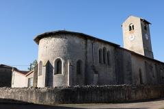 Eglise de Puxe - Français:   Abside romane de l\'église Saint-Rémy de Puxe à Lalœuf en Meurthe-et-Moselle.