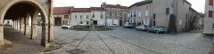Maison avec statue de la Vierge - Français:   Liverdun place de la fontaine.