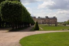 Domaine du château - Jardins à la française, Château de Lunéville (façade Est)