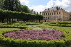 Domaine du château - Jardins à la française, Château de Lunéville. A gauche, les bosquets.