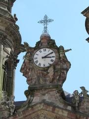Eglise Saint-Jacques - Horloge de l'église Saint-Jacques à Lunéville (Meurthe-et-Moselle, France).