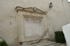 Synagogue - English: Memorial to the deported, Synagogue of Lunéville, 7 rue Castera, Luneville, France