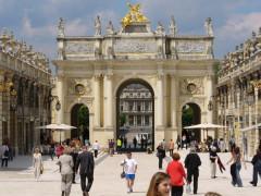 Ensemble formé par la place Stanislas, la rue Héré et la place de la Carrière -