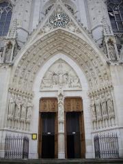 Basilique Saint-Epvre - Basilique Saint-Epvre de Nancy (Meurthe-et-Moselle, France); portail d'entrée