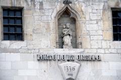 Porte de la Craffe - Porte de la Craffe passage couvert, porte, tour, voûte, élévation, toiture