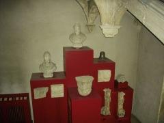 Ancienne abbaye Sainte-Marie-Majeure ou des Prémontrés ou ancien petit séminaire - Abbaye des Prémontrés de Pont-à-Mousson (Meurthe-et-Moselle, France): escalier carré