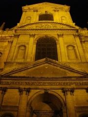 Ancienne abbaye Sainte-Marie-Majeure ou des Prémontrés ou ancien petit séminaire - Abbaye des Prémontrés de Pont-à-Mousson (Meurthe-et-Moselle, France): façade de l'église