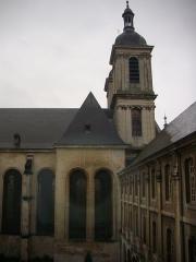 Ancienne abbaye Sainte-Marie-Majeure ou des Prémontrés ou ancien petit séminaire - Abbaye des Prémontrés de Pont-à-Mousson (Meurthe-et-Moselle, France): transeptnord et clocher de l'église