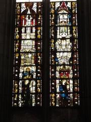 Eglise Saint-Gengoult et son cloître - English: Collégiale St Gengoult, Toul, détail vitrail