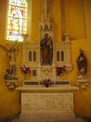 Eglise Saint-Pantaléon - Français:   Église Saint-Pantaléon de Commercy (Meuse, France). Autel secondaire