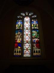 Eglise Saint-Pantaléon - Français:   Église Saint-Pantaléon de Commercy (Meuse, France). Vitrail: Jésus portant la Croix