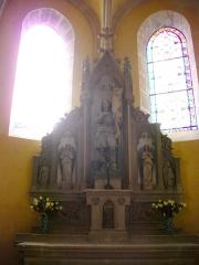 Eglise Saint-Pantaléon - Français:   Église Saint-Pantaléon de Commercy (Meuse, France). Autel secondaire et statue de Jeanne d\'Arc