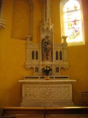 Eglise Saint-Pantaléon - Français:   Église Saint-Pantaléon de Commercy (Meuse, France). Autel secondaire et statue de l\'Éducation de la Vierge