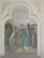 Eglise Saint-Hilaire - Église de Longeville-en-Barrois, relief autel de la Vierge, scène 1